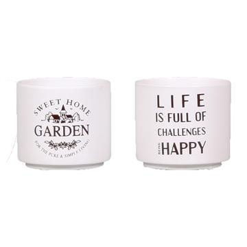 Toegevoegde waarde 4 x Life is / 4 x Garden White