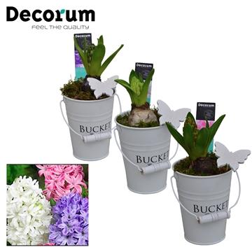 Hyacint White Bucket Mini HL18533 [PURE]