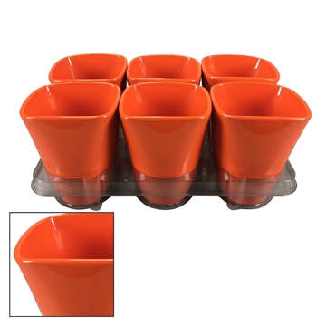 Suzanne ceramic pot Orange