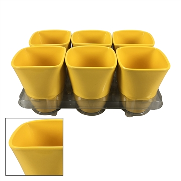 Suzanne  ceramic pot Yellow