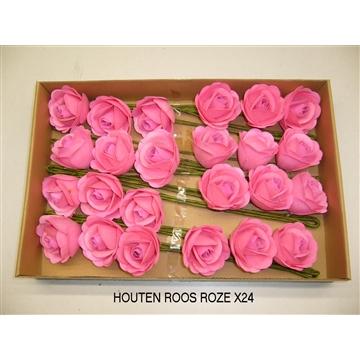 HOUTEN ROOS LICHTROZE
