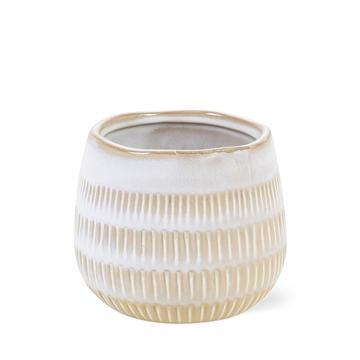 Ceramic Rhonda stripe - 9cm