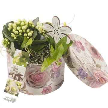 UD2091 Hoedendoos bloemenprint S