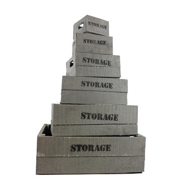 Set storage kisten grijs (set van 6)