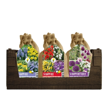 Happy Bee Mix in Jute bags (50 bulbs) - 3 mixen