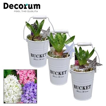 Hyacint White Bucket Mini HL18532 [PURE]