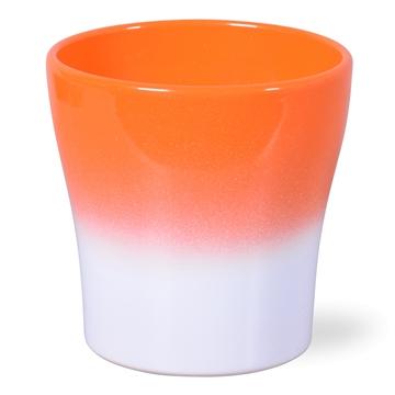 Keramiek Bombé Oranje 2tone