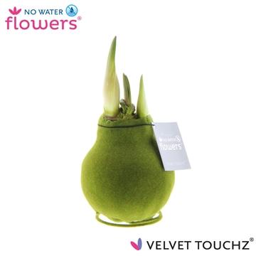 No Water Flowers Velvet Touchz® Moss Green