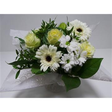 Bouquet Aqua Medium White