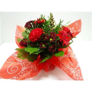 Bouquet Aqua Medium Red