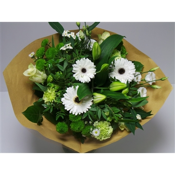 Bouquet Large White /Green