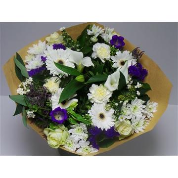Bouquet Large Blue /White