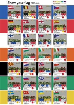 Slijkerman moments landenvlaggen 10cm