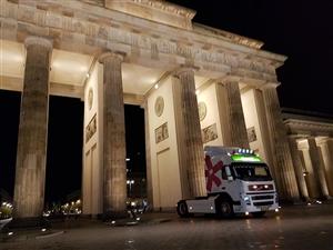 Onze vrachtwagen in Berlijn ( Kwekerij Baas)